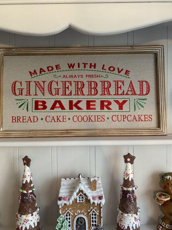 NEW FARMHOUSE Gingerbread Bakery Sign, Christmas, Wall Decor,