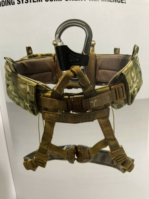 CTOMS SOF Multicam Padded M-2 Cobra Belt Harness Rappel Kit ARC'TERYX LBT Yates