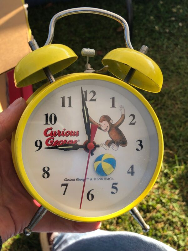 Curious George Adventures TWIN-BELL Alarm Clock