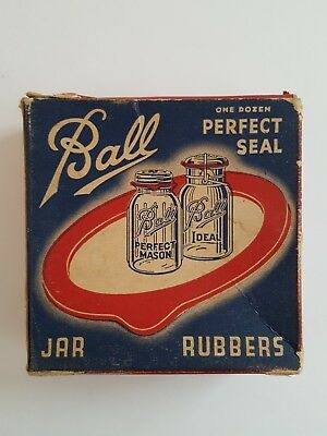 Antique ( 8) Ball Bros Co. Fruit Jar Rubbers Perfect Seal  Rings  - Ball Jar Company
