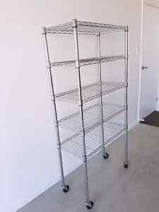 Chrome Wire Shelving Unit 5  Stainless Steel Trolley Waterford Logan Area Preview