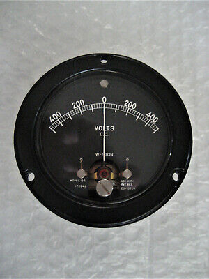 1 X Nos Nib Weston Model 1531 Mil Spec 3.5 Panel Meter -- 500-0-500 Vdc