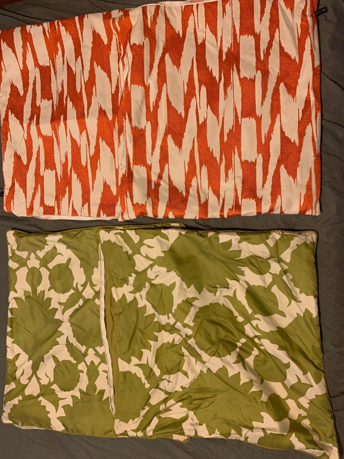 LOT OF 4 THROW PILLOW CASES - PAIR 100 SILK THOMASPAUL PAIR RODEO HOME - $39.99
