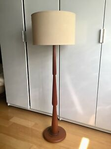 SCULPTURAL TEAK FLOOR LAMP MID CENTURY MODERN VINTAGE LIGHT
