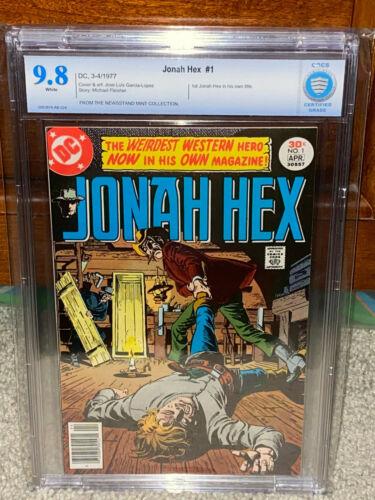 Jonah Hex #1 CBCS 9.8 DC 1977 NM/Mint! White Pages! Free CGC Mylar! F9 cm L2