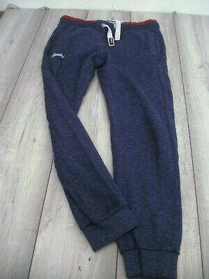 SUPERDRY SWEAT PANTS TRACKSUIT BOTTOMS SIZE SIZE SMALL SLIM FIT BLUE