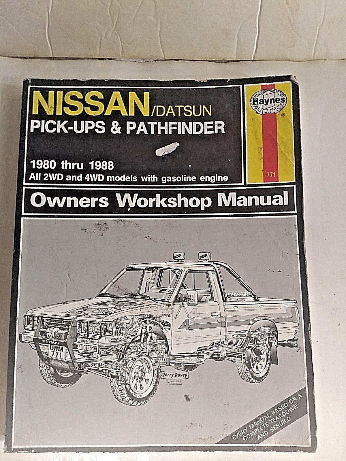 Haynes Nissan/Datsun Pick-Ups & Pathfinder 1980 thru 1988 #771