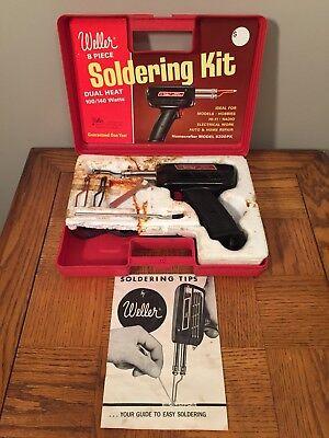Weller Soldering Gun Kit 8200n Dual Heat 100140 Plastic Storage Case Apex Nc