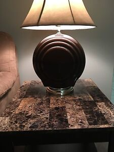 Nice brown lamp with tanned hat (like NEW!!!) Kitchener / Waterloo Kitchener Area image 2