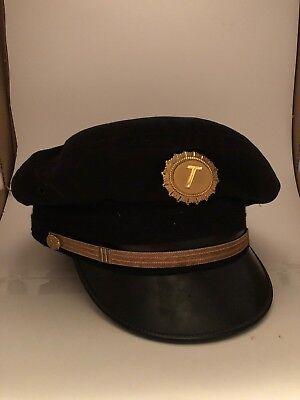 Airline Pilot Cap (Tower Air Airlines Bernard Cap Co Vintage Pilots Hat Airline Captain Style)