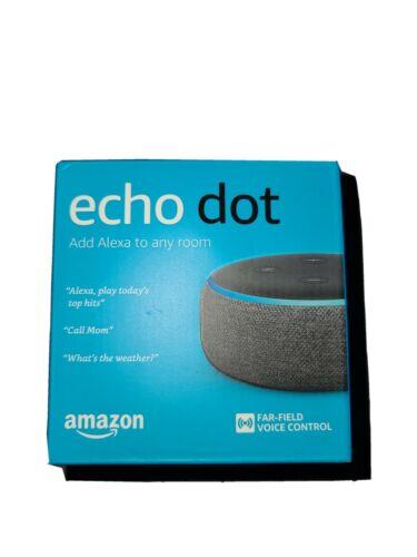 Amazon Echo Dot Smart Speaker With Alexa Voice Control 3rd Gen. Charcoal. - $18.00