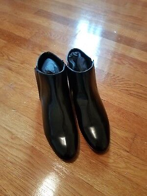 Black Boots With Gold Trim (NWT Zara ankle boots black with gold trim size 41 USA 10 UK)