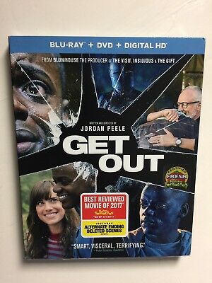 Get Out  Blu Ray Dvd  2017  2 Disc  Digital Hd  New W Slipcover