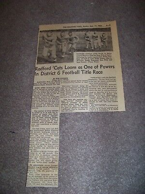 1955 Roanoke Times Va Radford High School Spud Howell Bobby Alderman Don Riley