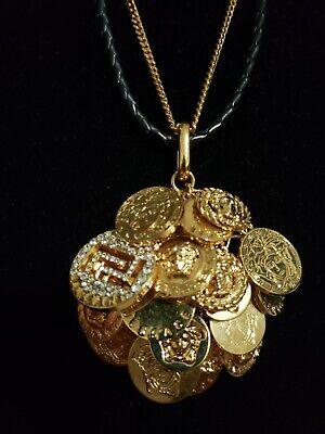 Versace Coin Necklace comes with box & authenticity card