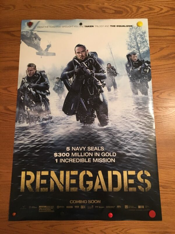 RENEGADES 2017 ORIGINAL Theater 27x40 Movie Poster