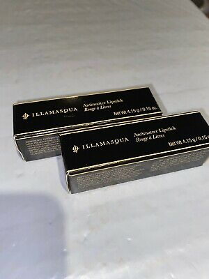 2x Illamasqua Antimatter Lipstick Solar Full Size 4.15g/.15oz BEAUTY NEW