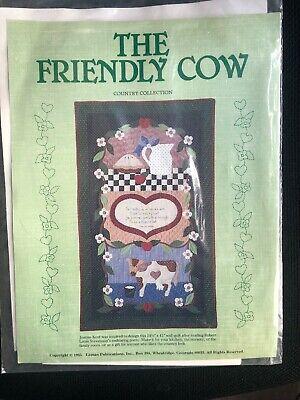 """Leman Publications THE FRIENDLY COW Quilt Pattern UNCUT 24.5"""" X 41"""""""