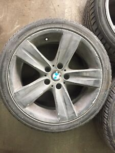"""BMW 18"""" mags with summer tires"""