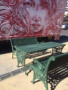 Outdoor setting, wrought iron, benches, furniture, WE DELIVER Brunswick Moreland Area Preview