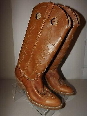 Women's Acme 8307 Buckaroo Western Boots Cowboy TAN Size 7M Leather T819