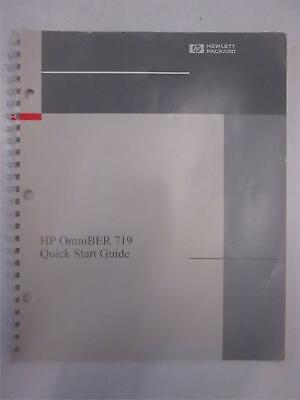 Hp Omniber 719 Quick Start Guide Used