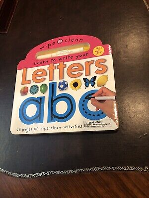 Wipe Clean Learning activities.: Learn to Write Your - Letters ABC