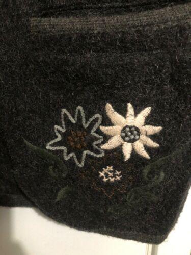 Berwin & Wolff Authentic Vintage German Grey Trachten Jacket Wool EU Sz. 44