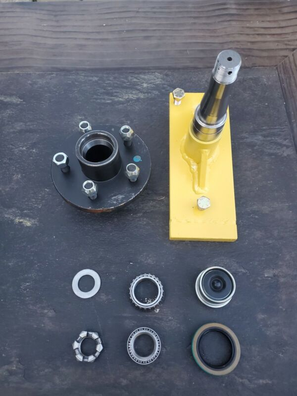 Clip-On Shipping Container Wheels, 7000# Spindle Kit (1 Set)