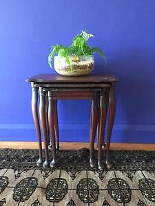 Antique nestle of 3 tables, adorable Mosman Mosman Area Preview