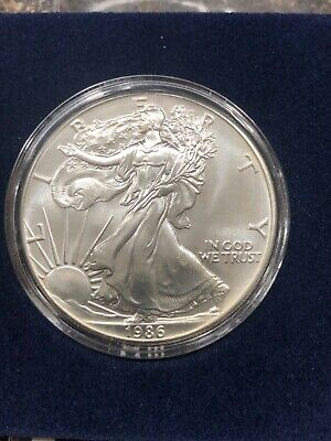 1986 US 1 Ounce Silver Eagle BU Uncirculated First Year!