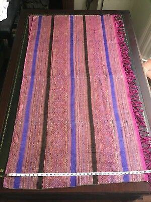 TWO PIECES OF USED Vtg Ethnic  Scarf Stole from the Dobi Loom of India.
