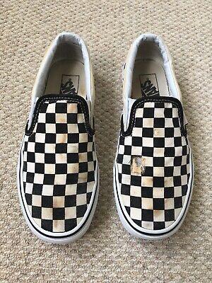Vans Unisex Adults Black and White Checkered Slip On - UK 5.5