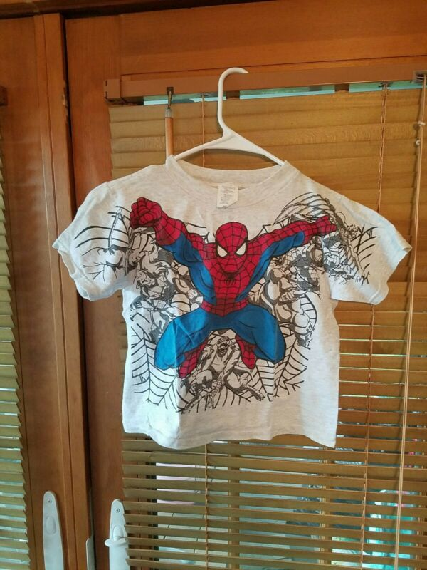 Vintage 1996 Spiderman Marvel All Over Print T Shirt Youth Medium Collectible