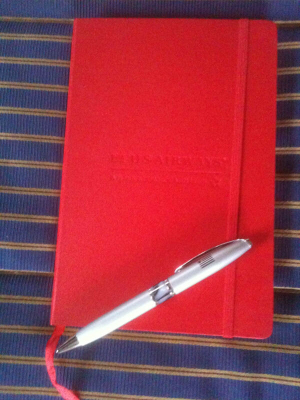 US Airways Airlines Red Notebook with logo (pen not included)