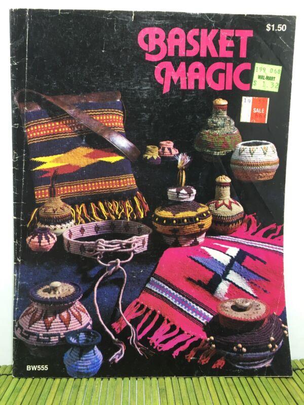 Basket Magic H. Trester Vintage Instruction Book Basketry Pattern 1977