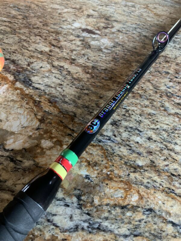 40-60lb.Custom Offshore Rod. 7ft. 6in. Rastafarian Retail $300+ 🤙🏽