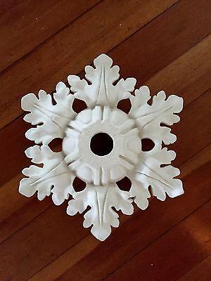 """Fine Hand-made Plaster Ceiling Medallion, 12"""" diameter"""