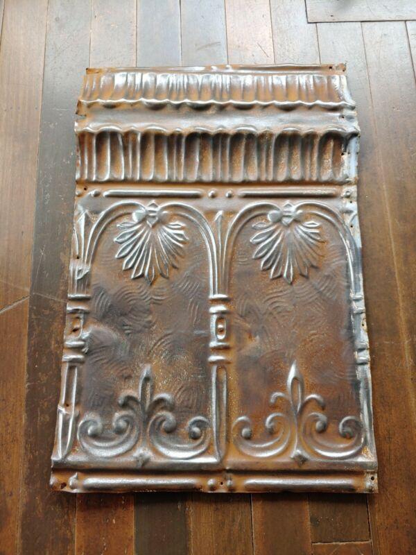Ceiling Tin Tile Antique Metal Vintage Home Decor Craft #15 industrial Art