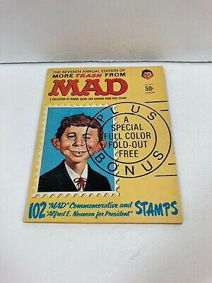 1964 7th Edition More Trash From MAD MAGAZINE w 102 Stamps Alfred E. Neuman