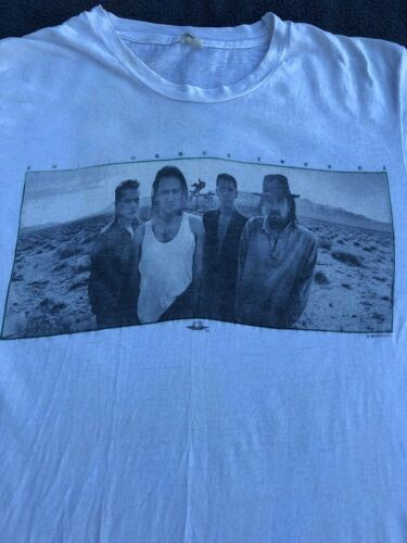 U2 JOSHUA TREE TOUR 1987 CONCERT VINTAGE AND RARE TEE SHIRT - LARGE