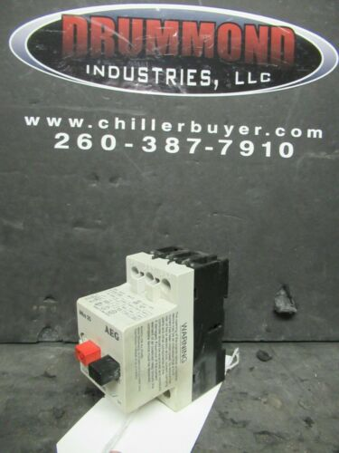 AEG MANUAL MOTOR STARTER BMS 25 6.3 - 10 AMP 910-201-209 5 HP @ 460 VAC 3 PH