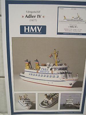 Adler IV Fahrgastschiff Schiff Kartonbausatz *NEU* Bastelbogen Kartonmodell