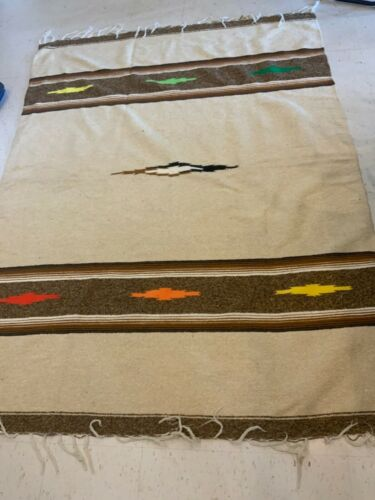 AUTHENTIC MEXICAN BLANKET YOGA MAT BLANKET  83. X. 61 1/2