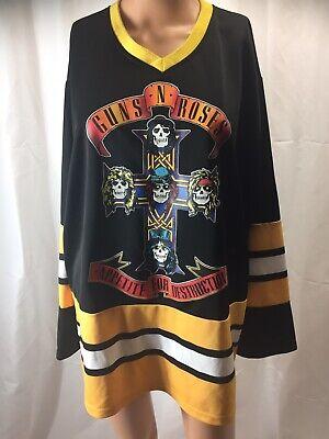 Guns N Roses No. 87 Appetite For Destruction Hockey Jersey Shirt MD
