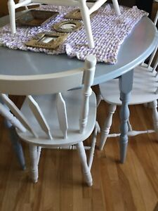 Light blue grey dining table only