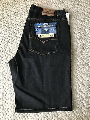 NWT Men's Nevada Black Premium Five Pocket Jean Denim Shorts BIG SIZES 42 44 Denim Five Pocket Shorts