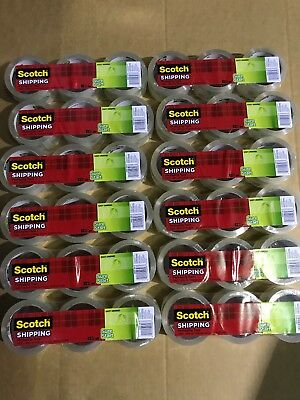 36 Roll Case 3m Scotch Sure Start Shipping Packing Tape 1.88 X 43.7 Yard Clear