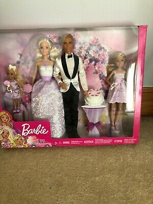 BARBIE I CAN BE A BRIDE WEDDING SET- 4 DOLLS NEW IN BOX- Barbie, Ken, Stacie,, używany na sprzedaż  Wysyłka do Poland