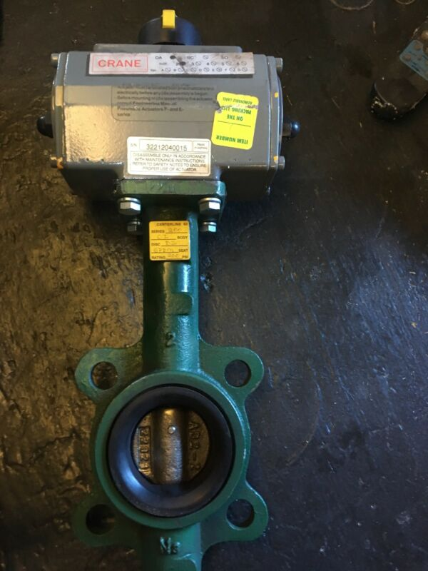 Crane DA Pneumatic Actuator With Centerline 63  200 Series Butterfly Valve